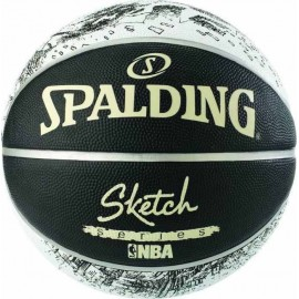 Μπάλα μπάσκετ Spalding NBA sketch series Blk/Wht 83 534Ζ1