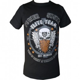 "T-shirt ""WARRIOR"" (μαύρο) POWER SYSTEM PS 8004Β"