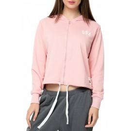 Γυναικεία φούτερ ζακέτα GSA GLORY ZIPPER HOODIE 37-28002 dusty pink