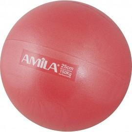 Μπάλα Γυμναστικής Pilates, Φ25cm, Χρώμα Κόκκινο (δεν αναπηδά), 150gr, amila (48427)