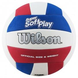 Wilson Super Soft Play Λευκό/Μπλε/Κόκκινο WTH90219XB