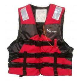 Σωσίβιο Γιλέκο VICTORY PR1 με 3 ιμάνες Κόκκινο 0500-0401R