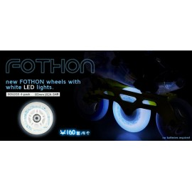 Ρόδες (Τετράδα) InLine Fitness Powerslide Fothon Nightweels WhtLed