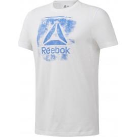 REEBOK Ανδρική Κοντομάνικη Μπλούζα T-SHIRT Stamped Logo Crew Tee DU4676 WHITE