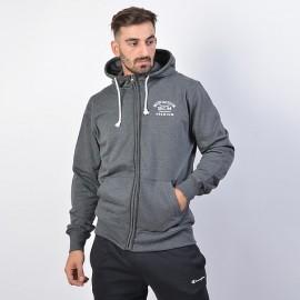 Αντρική ζακέτα Body Action Fleece Full-Zip Sweatshirt - Ανδρική Ζακέτα 073915-03E mel.grey