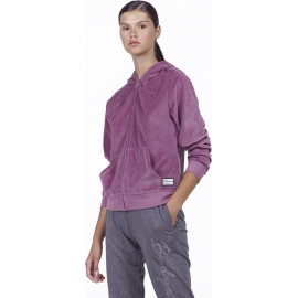 Ζακέτες Body Action WOMEN VELOUR HOODIE JACKET Body Action 071928-13AΜΩΒ