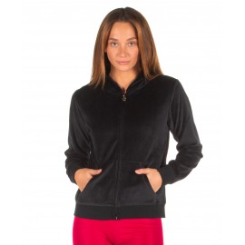 Ζακέτες Body Action WOMEN VELOUR HOODIE JACKET Body Action 071928-01 BLACK