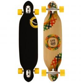"""Skateboard Longboard Criss Cross (38"""") 52OT-GRB"""