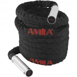 Battle Rope με χερούλια αλουμινίου amila (15m) 84554