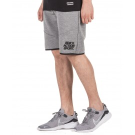 BODY ACTION MEN'S TRAINING SHORTS 033033-03D MEL.GREY