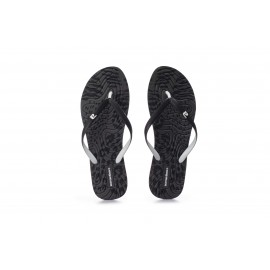 Body Action Γυναικεία Σαγιονάρα Παραλίας Ss20 Women Summer Beach Flip Flops 091004-01 Black-Dark Grey Print-White