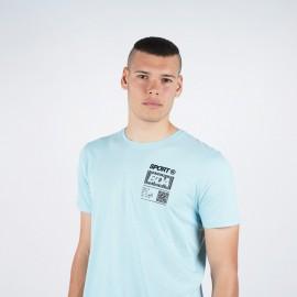 Body Action Men's Running Τ-Shirt (053002-04A) Light Blue