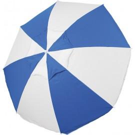 Ομπρέλα παραλίας Escape 2m με αεραγωγό μπλε/λευκή (12096)