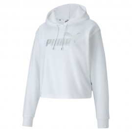 PUMA Γυναικείο Φούτερ Essentials+ Metallic 582411-52 WHITE