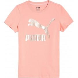ΜΠΛΟΥΖΑ ΠΑΙΔΙΚΗ PUMA JR Classics Logo Tee G (530208-26)apricot blush/rose gold