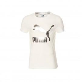 ΜΠΛΟΥΖΑ ΠΑΙΔΙΚΗ PUMA JR Classics Logo Tee G (530208-02)puma white/silver