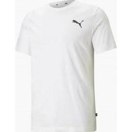 Puma Essentials Small Logo Ανδρικό T-Shirt 586668-52 Puma White-Puma White-Cat