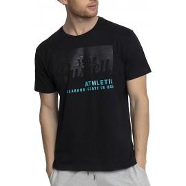 Ανδρική κοντομάνικη μπλούζα RUSSELL ATHLETIC Alabama State S/S Crewneck Tee Shirt A1-028-1-099 Μαυρο