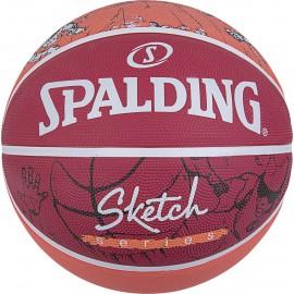 Μπάλα μπάσκετ Spalding Sketch Dribble 84 381Z1