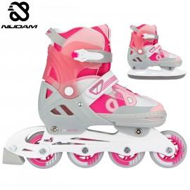 "Nijdam Inline Skates ‑ Παγοπέδιλα Combo ""Bold Berry"""