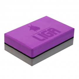 Τουβλάκι Yoga δίχρωμο (Two-color Yoga block) (γκρι/μωβ) LIGASPORT*