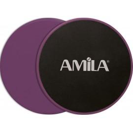 Δίσκοι Ολίσθησης AMILA Gliding Pads Μωβ 95952
