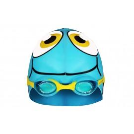 Σκουφάκι και Γυαλάκια κολύμβησης junior γαλάζιο ροζ (88DU)