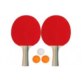 Σετ 2 Ρακέτες Ping Pong και 3 Μπαλάκια (61UG)