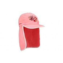 Παιδικό καπέλο ήλιου με πτερύγιο λαιμού (ροζ) Waimea® (23CU RWF)