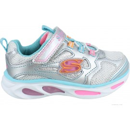 ΠΑΠΟΥΤΣΙ ΒΕΒΕ Lighted Bungee & Strap W/ Sparkle Mesh SKECHERS 10477N SMLT